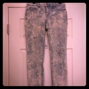Acid wash stretch jeans